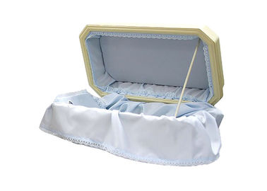 China Dog / Cat Samll Size Wooden Pet Caskets , Small Wooden Pet Cremation Boxes With Hinged Lid supplier