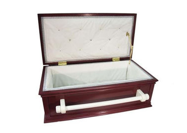 China Hand Made Wooden Pet Cremation Caskets , Wood Funeral Urns OEM Sercive supplier