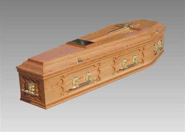 China High Gloss Finish European Caskets Paulownia Wood Casket With Liner supplier