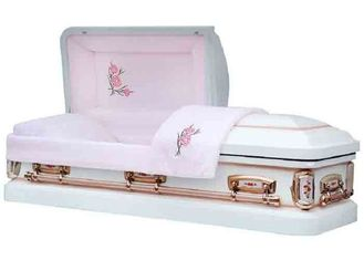 China Pure White Wooden Infant Casket Coffin Logo Printing Normal Shape For Children supplier
