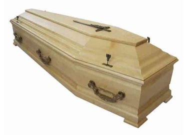 China Selected European Solid Wood Western Caskets , Adults Burial Coffins And Caskets distributor