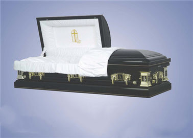China American Design Wood Caskets With Beds Velvet Nterior Custom Design factory