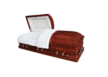 China American Style Antique Coffin Casket , Funeral Adult Casket Handmade Service factory