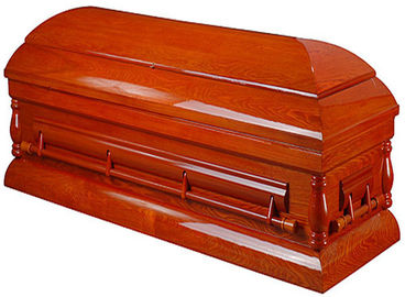 China Handmade Solid Oak Casket Coffins , Kids Half Couch Casket 24 Inches Dimension factory