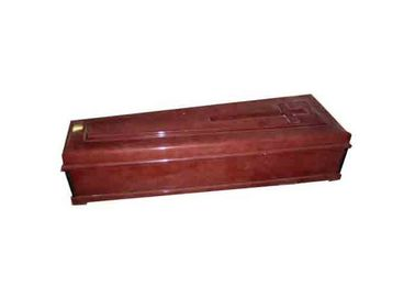 China MDF Wooden Adult American Style Caskets Handmade Velvet Liner With Beds distributor