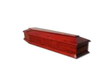 China Funeral Coffin European Caskets Solid Wood Material With Cover Matt Color distributor