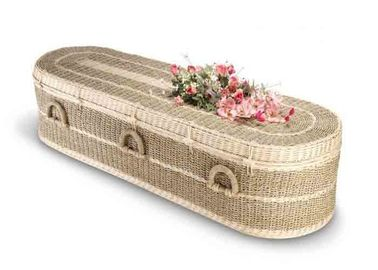 China Full Couch Russian Style Casket Wooden Coffin White Velvet Interior With Natural Color factory