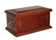 Solid Wood Custom Made Caskets , Adjustable Funeral Plain Wooden Caskets Eco - Friendly