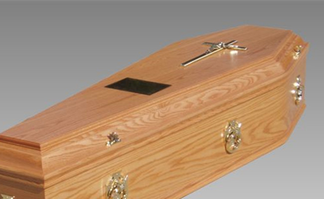 High Gloss Finish European Caskets Paulownia Wood Casket With Liner
